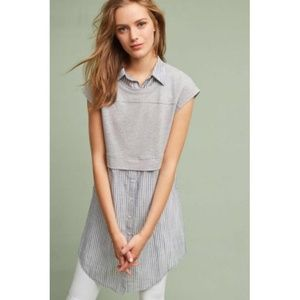 Anthropologie Postmark Londra Striped Layered Top